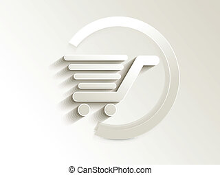 abstract shopping card button vector illustration