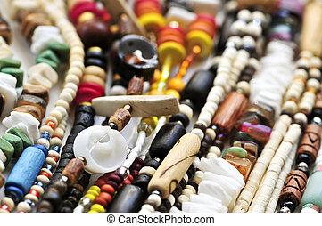 madera, Concha marina, Cuenta, collares