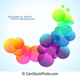 Rainbow Bubbles Background for Elegant Flyers - Abstract...