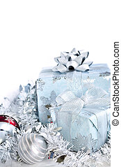 Christmas gift boxes - Two gift boxes with Christmas...