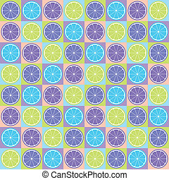 Seamless citrus pattern - Colorful seamless retro pattern...