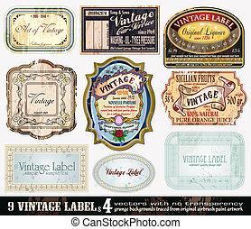 Vintage Labels Collection - Set 4 - Vintage Labels...