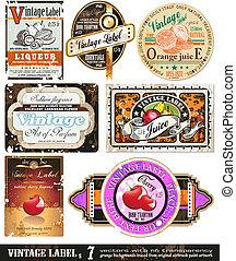 Vintage Labels Collection - Set 7 - Vintage Labels...