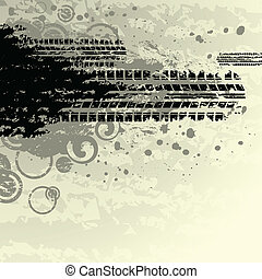 Yellow tire track background - Tire track background with...