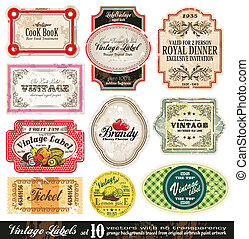 Vintage Labels Collection - Set 10 - Vintage Labels...