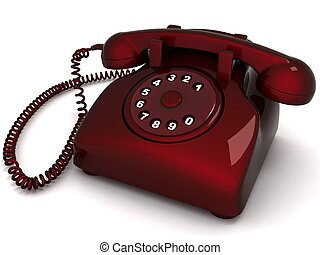 landline phone - three dimensional landlines phone against...