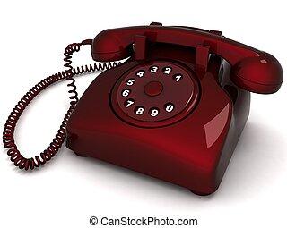 landline phone - three dimensional landlines phone against...