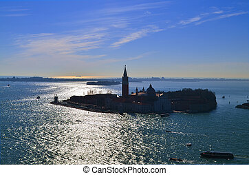 Beautiful water street - evening view Gulf of Venice, Italy...
