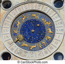 Astronomical Clock Tower. St. Mark's Square (Piazza San...