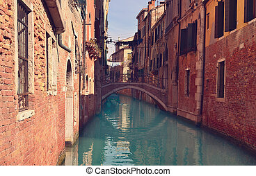 Beautiful water street - Venice, Italy - Beautiful water...