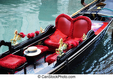 Venetian typical boat - gondola, Italy