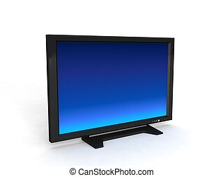 lcd television - three dimensional LCD television with white...