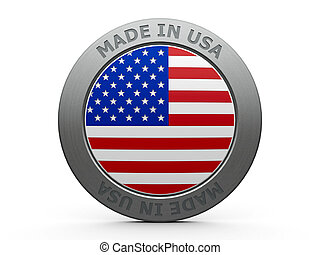 Made in USA - Emblem - made in USA, three-dimensional...