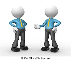 Businessman - 3d people - men, person talking