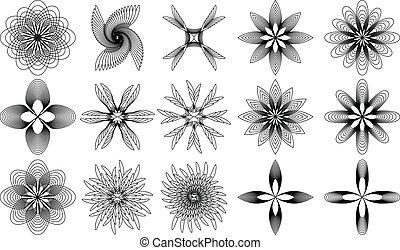 Spirals - Different form spirals with black stroke