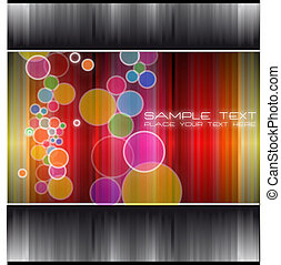 Technology Future Background with rainbow colours and place for text