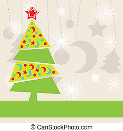Christmas kids background - Abstract holiday background with...