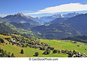 Gorgeous weather in the resort of Leysin - Gorgeous weather...