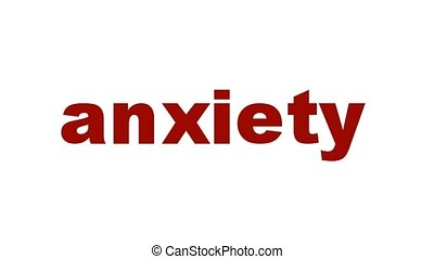 Anxiety mental health symbol