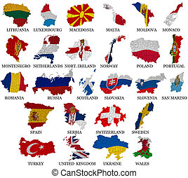 Europe countries flag maps Part 2 - Europe countries From L...
