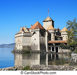 The Castle of Chillon on Lake Geneva