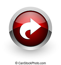 next red circle web glossy icon