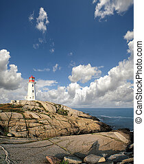 Peggys Cove Lighthouse, St Margarets Bay, Nova Scotia