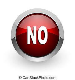 no red circle web glossy icon