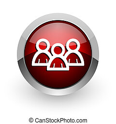 forum red circle web glossy icon