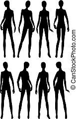 mannequins for fashion store - black silhouettes dummies...