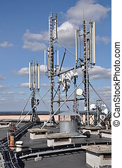 Cellular communication system on the roof