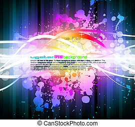 Rainbow Abstract Background for Modern Flyers - Colorful...
