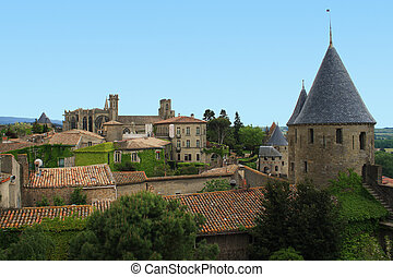 Carcassonne - The medieval city of Carcassonne in France.