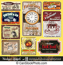 Vintage Labels - Set 11 - Vintage Labels Collection - nine...