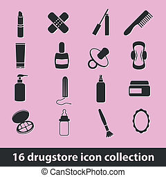 drugstore icons - 16 drugstore icon collection