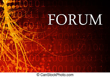 Forum Abstract Background in Red and Black