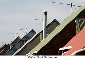 chalé, telhados