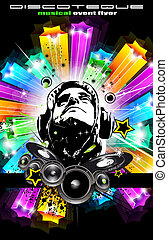 Disco Flyer for music event - Abstract Disk Jockey Disco...