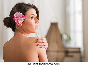 Beautiful Woman In A Spa - Beautiful Young Attractive Woman...
