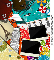 Travel abstract collage