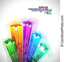 Amazing Rainbow Stars Background for Business Stylish Flyers