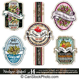 Vintage Labels Collection -Set 14 - Vintage Labels...