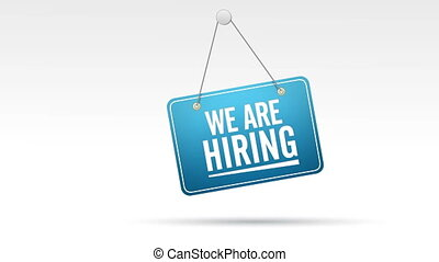 We Are Hiring Store Sign - Hanging, Swinging We Are Hiring...