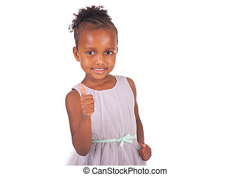Adorable african little girl