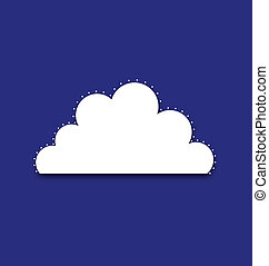 Cloud Royal - White cloud with dotted around border