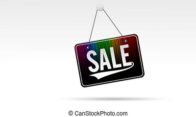 Sale Store Sign - Animated , Swinging, Hanging sale store...