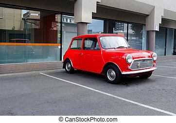 Mini minor cooper - Classic mini model in a car parking lot.