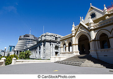 Wellington Parliament library - Parliament library,...