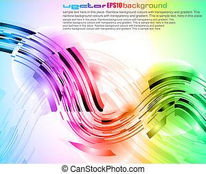 High Tech Abstract Rainbow Business Card - Modern High Tech...
