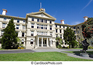 The old Parliament Building of New Zealand in Wellington,...